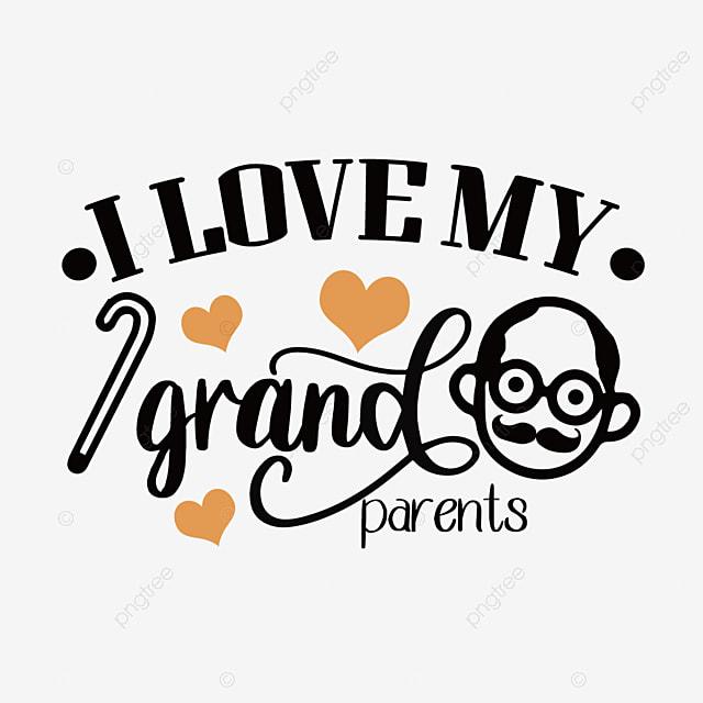 hand drawn cartoon grandparents day svg font