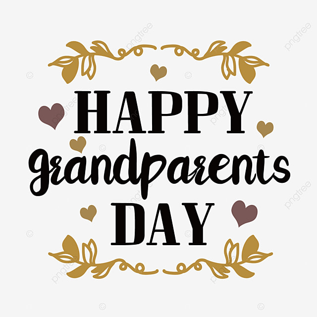 hand drawn cartoon love plant grandparents day font