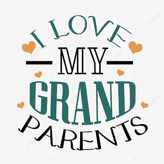 hand drawn cartoon loving grandparents day svg font