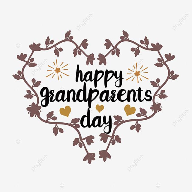 hand drawn grandparents day wreath love font
