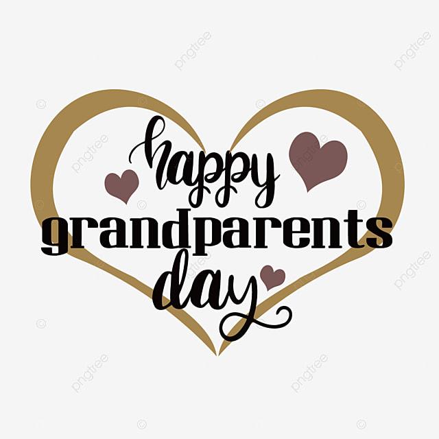 hand drawn loving grandparents day svg font