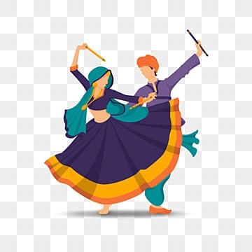 dandiya raas пара танцует ночь гарба, танцевальный клипарт, Дандия раас, Наваратри PNG ресурс рисунок и векторное изображение