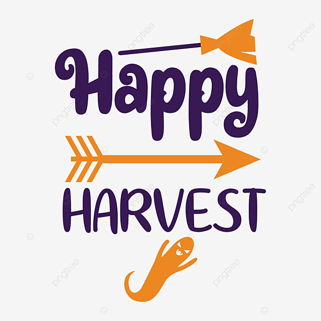 Happy Harvest Svg Design Happy Harvest Typography Design Poster Design Png And Vector With Transparent Background For Free Download