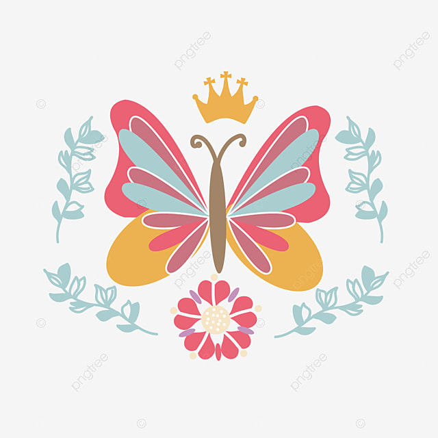Svg Colorful Cartoon Crown Butterfly Element Butterfly Clipart Svg Dazzling Png And Vector With Transparent Background For Free Download All contents are released under creative commons cc0. svg colorful cartoon crown butterfly