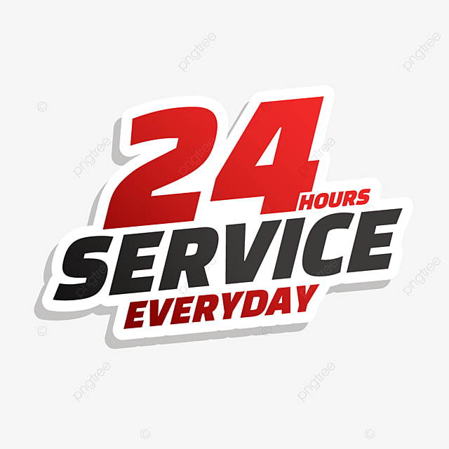 24 hour delivery service graphics