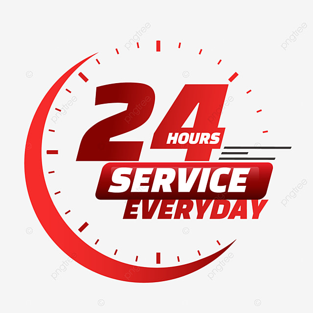 24 hour delivery service red clock 24 hours service service png and vector with transparent background for free download https pngtree com freepng 24 hour delivery service red clock 5518181 html