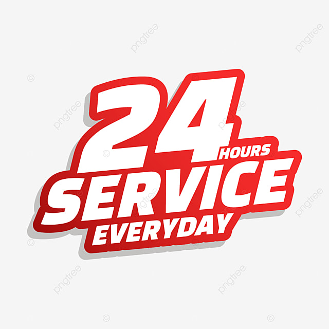 24 hour delivery service stroke font