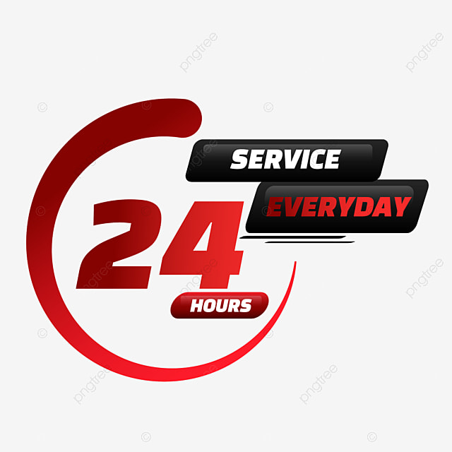 24 hour delivery service with semicircle pattern