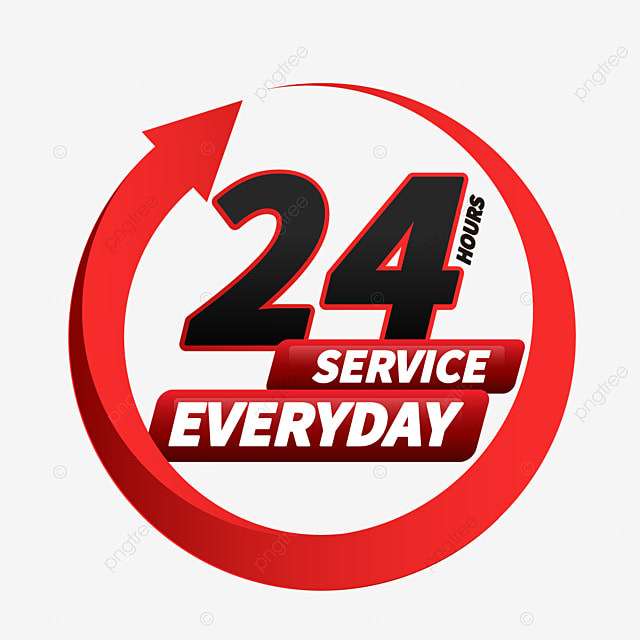 24 hours delivery service arrow pattern