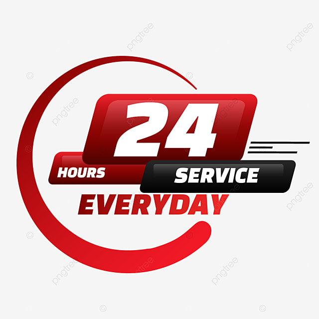 24 hours delivery service circular creative