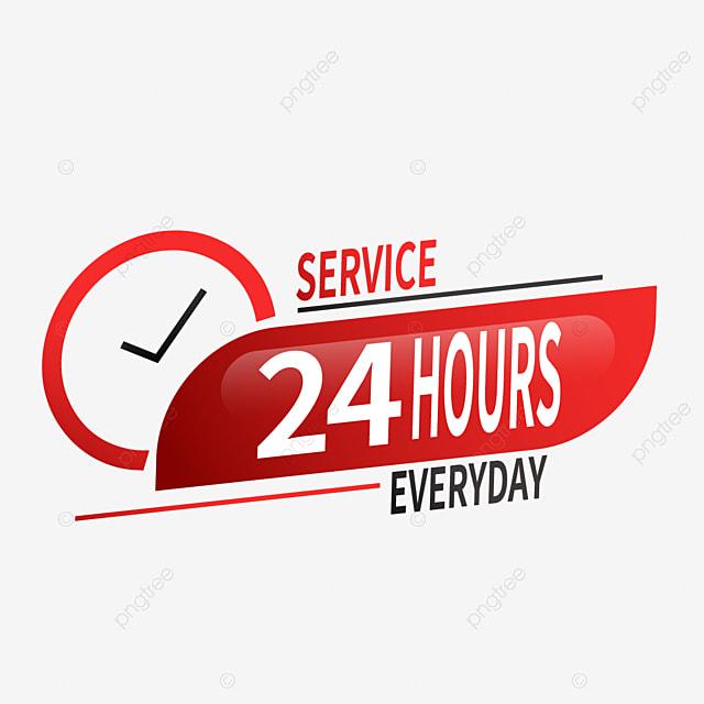 layanan pengiriman 24 jam 24 jam waktu layanan png dan vektor dengan latar belakang transparan untuk unduh gratis pngtree