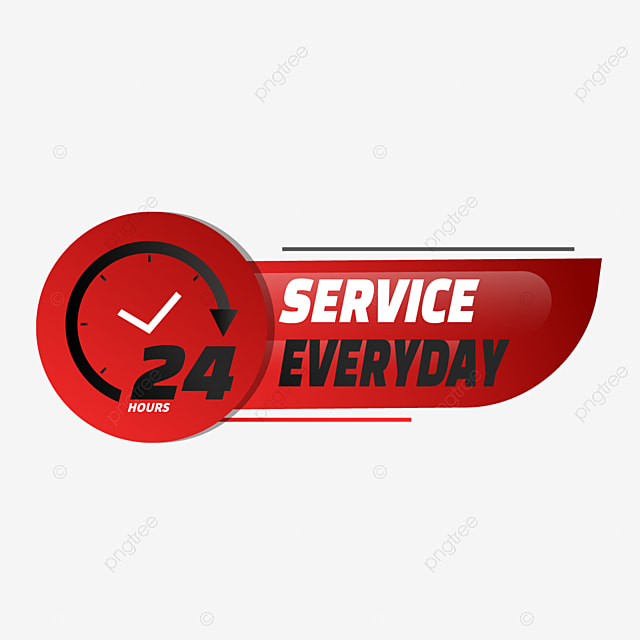 red gradient 24 hours delivery service