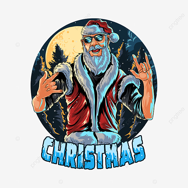 santa claus wears glasses and a vest at a christmas party