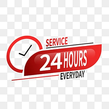 24 hour delivery service red clock 24 hours service service png and vector with transparent background for free download 24 hour delivery service red clock 24