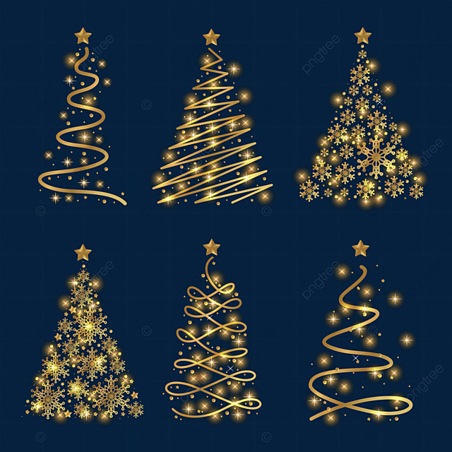 The Best Gold Christmas Tree Transparent Background