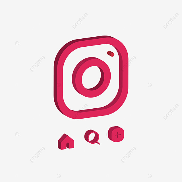 3d Design Vector Of Instagram App Icon Instagram Icon Logo Pink Png And Vector With Transparent Background For Free Download