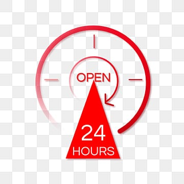 open 24 hours png images vector and psd files free download on pngtree https pngtree com freepng red gradient simple 24 hour service 5525681 html