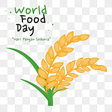 rice plant png vector psd and clipart with transparent background for free download pngtree https pngtree com freepng world food day or hari pangan sedunia in indonesia with rice plant illustration 5526579 html