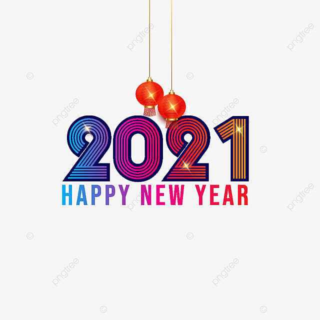 Colorful Vector Happy New Year 2021 Happynewyearfiberfriends Happynewyeareverybody Happynewyearbyninetyone Png And Vector With Transparent Background For Free Download