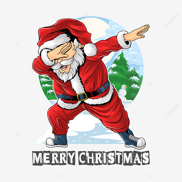 santa claus dabbing dance cute for t shirts posters cards mugs in eps editable layers