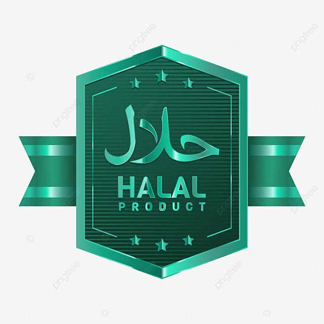 vektor lencana produk halal dengan pita hijau tulisan arab dan ornamen bintang halal muslim makanan png dan vektor dengan latar belakang transparan untuk unduh gratis pngtree
