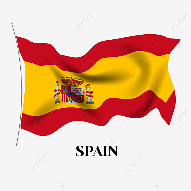 Hand Drawn Cartoon Spain Flag Spain Spanish Flag Flagpole Png And Vector With Transparent Background For Free Download