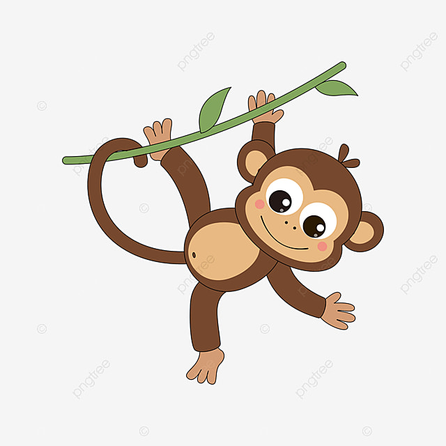 Monkey Images Clip Art - Cartoon Monkeys In A Tree - Free Transparent PNG  Clipart Images Download
