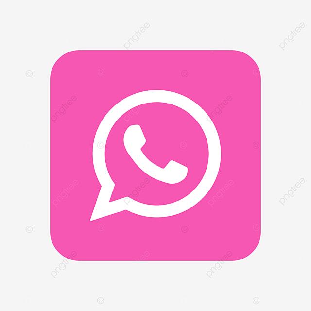 Whatsapp Symbol Mit Transparentem Hintergrund Whatsapp Clipart Whatsapp Rosa Png Und Vektor Zum Kostenlosen Download