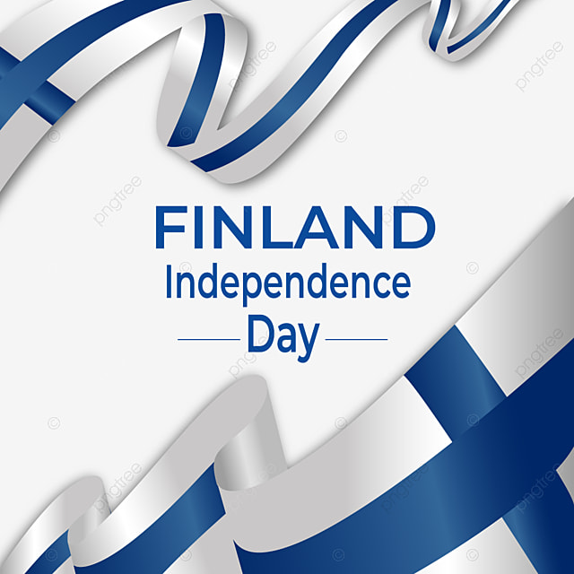 finland national independence day ribbon waving