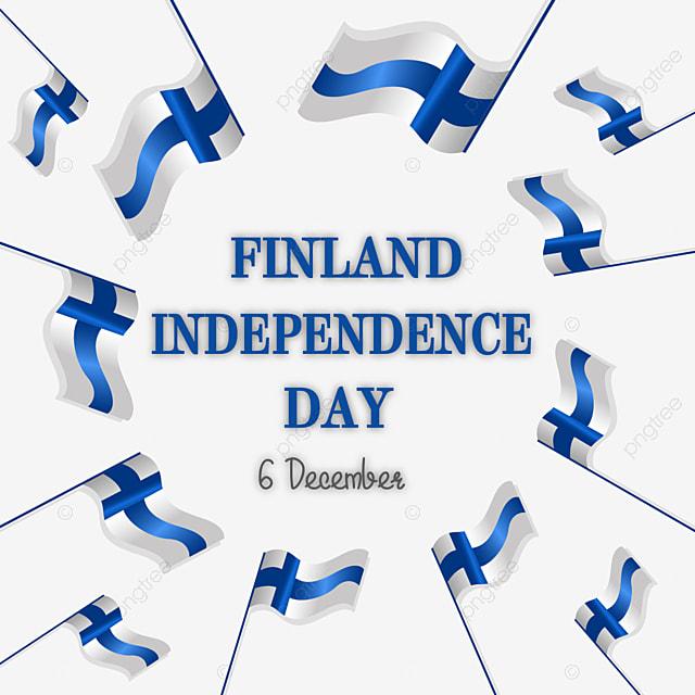 flag around finland independence day