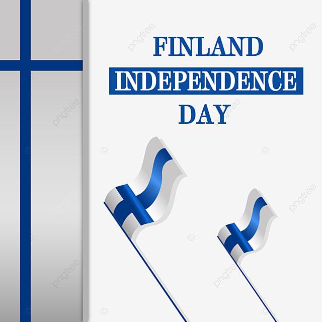 fluttering flag of finland independence day