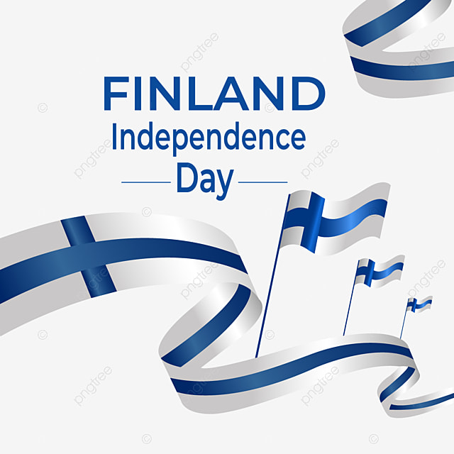 ribbon flying for finland national independence day