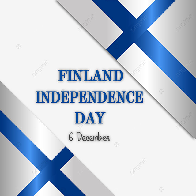 simple gradient flag of finland independence day