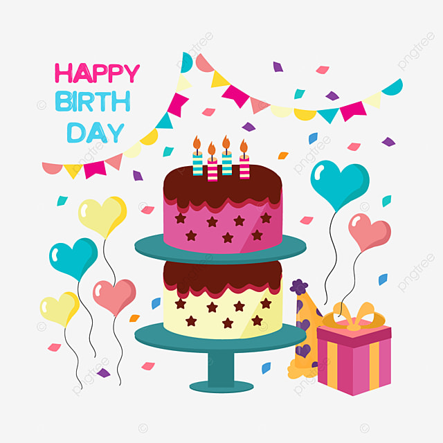 Hand Drawn Cartoon Birthday Cake Love Illustration Love Cake Cartoon Png And Vector With Transparent Background For Free Download