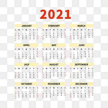Kalender 2021 Gambar PNG | File Vektor dan PSD | Unduh ...