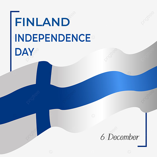 finland independence day blue gradient waving flag