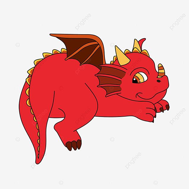 Dinosaurio Gordo Rojo Con Alas Puntiagudas Clipart Estilo Dibujado A Mano Esquina Afilada Ala Png Y Vector Para Descargar Gratis Pngtree Menos mal que los humanos nacimos pues creando al dragón más destructivo de todos los tiempos. pngtree