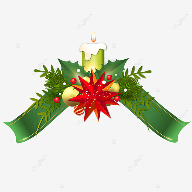 advent christmas candle ribbon