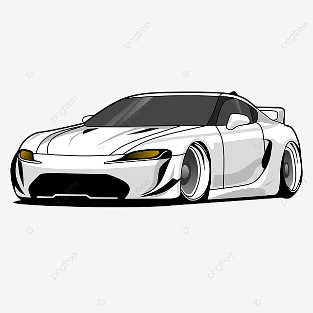 Luxury White Super Sports Car Vector Illustration Car Clipart Car Supercar Png And Vector With Transparent Background For Free Download