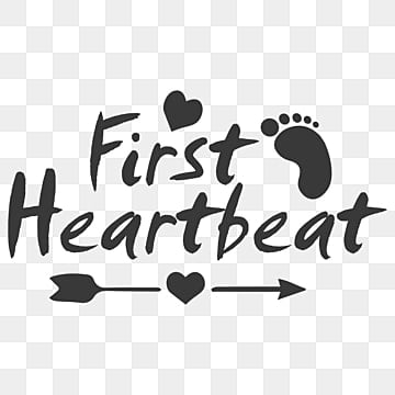 pngtree first heartbeat pregnancy t shirt design template png image 2418612