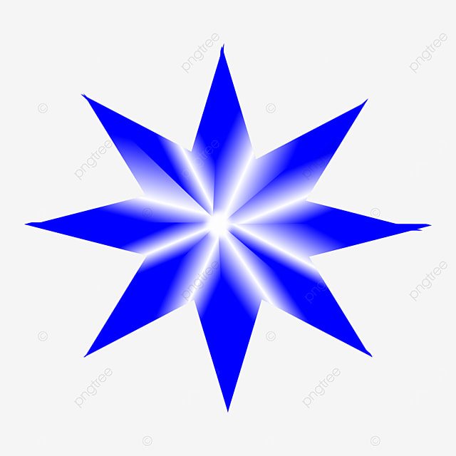 8 Line Blue Star, Star New Design, Christmas Star, Blue Star PNG and Clipart