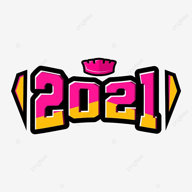Gambar Reka Bentuk Vektor Abstrak 2021 Dengan Hiasan Mahkota Dan Gaya Teks Sukan 2021 Telus E Png Dan Vektor Untuk Muat Turun Percuma
