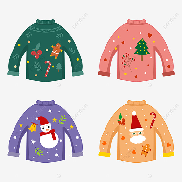 christmas sweater with christmas decoration