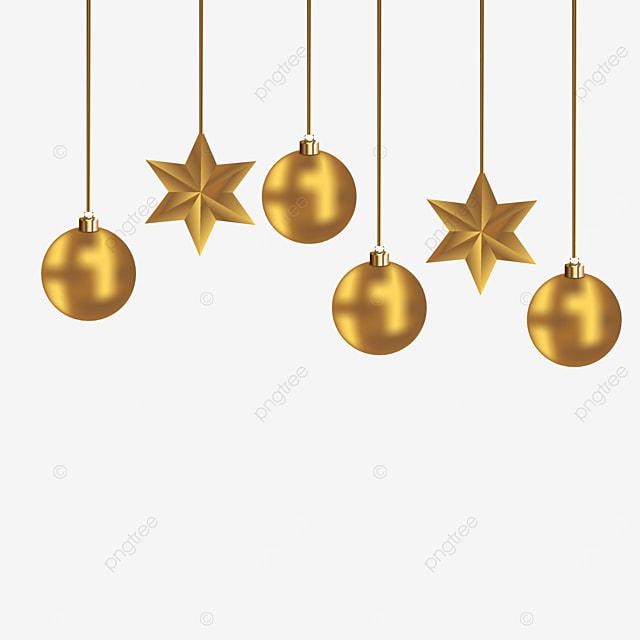 Bola De Navidad Dorada Y Estrellas Png Vector Fondo Transparente Fiesta Navidad Decoración Png Y Vector Para Descargar Gratis Pngtree