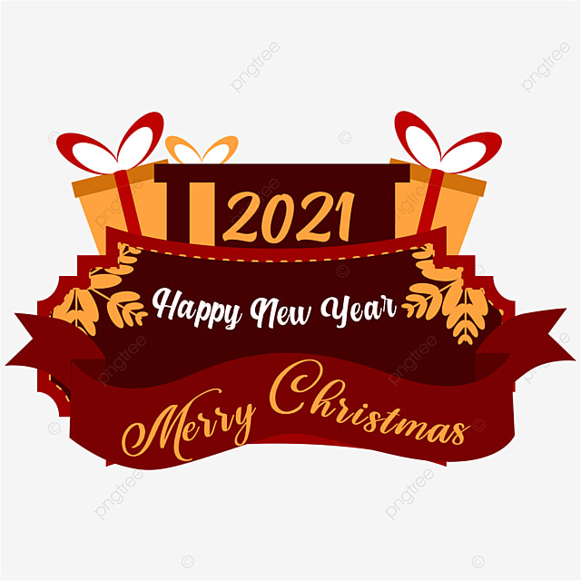 Christmas Ribbon 2021 Merry Christmas Happy New Year 2021 Isolated On Red Ribbon And Three Gift Boxes Winter Christmas Background Png And Vector With Transparent Background For Free Download