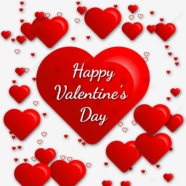 Happy Valentine S Day Png Image With Heart, Romantic, White Day, Love Clipart PNG and Vector