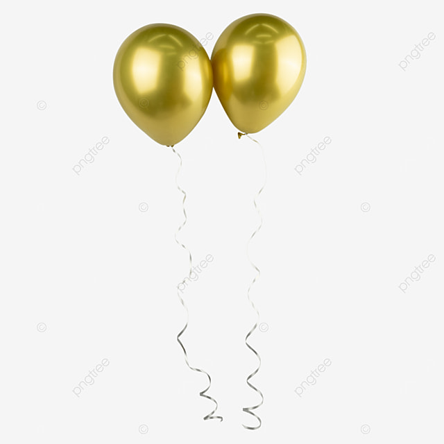 Two Golden Balloons Side By Side Arrangement Indoor Balloon Png Transparent Image And Clipart For Free Download