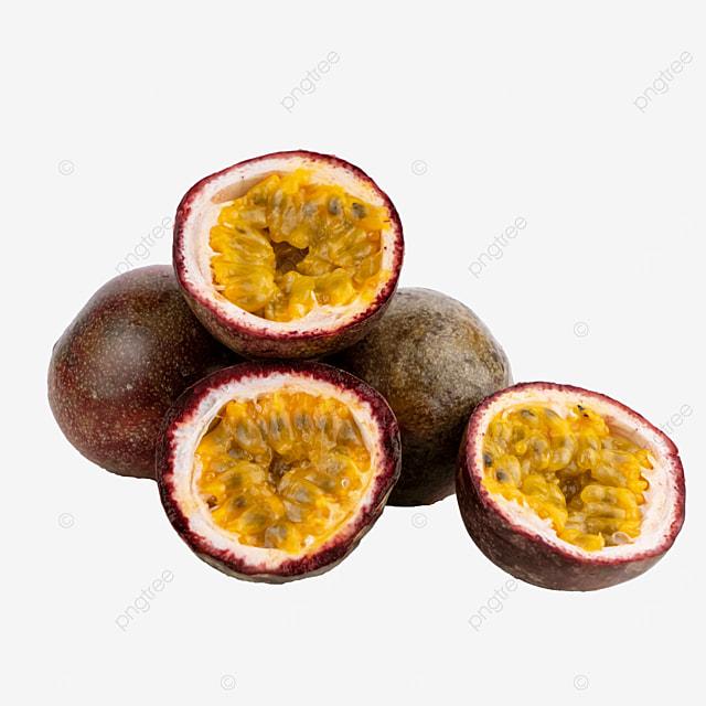 passion fruit fruit cut open stack