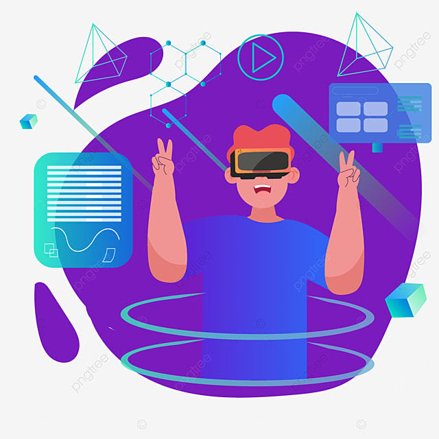 abstract purple background technology vr illustration