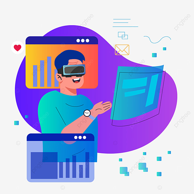 purple abstract gradient background technology vr illustration
